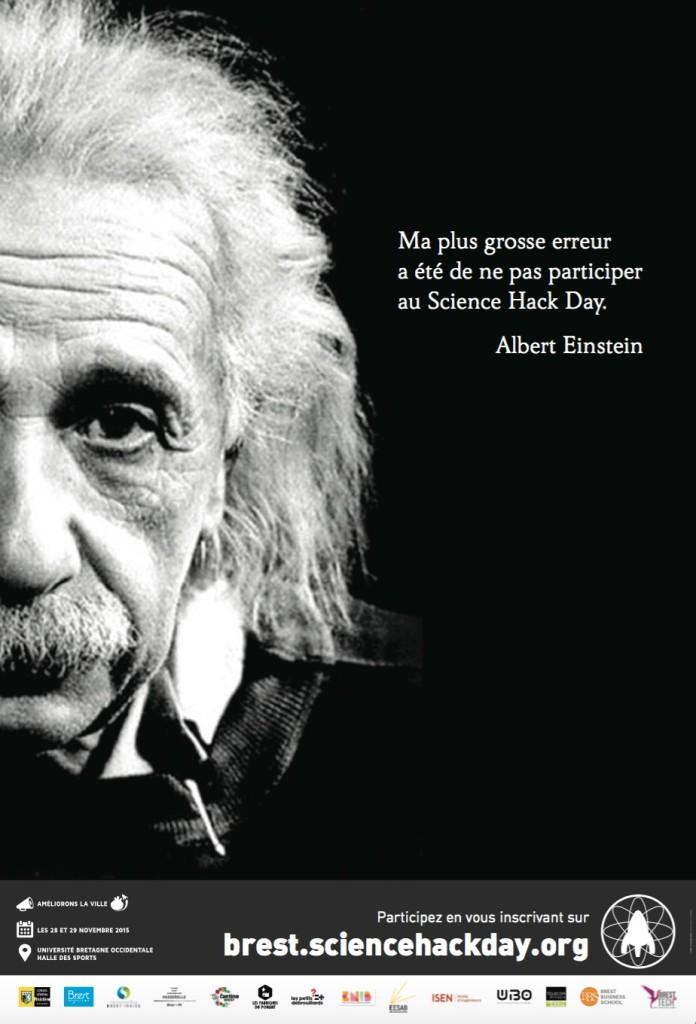 affiche abribus du Science Hack Day Brest